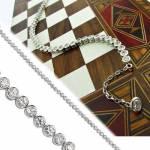 Tek Taş Sallantılı Su Yolu Taşlı 925 Ayar Bayan Gümüş Bileklik Wsb76